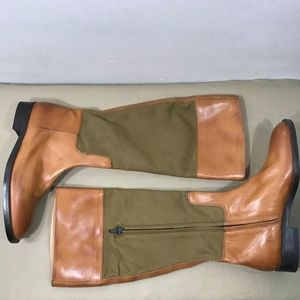 J Crew Brown Leather Equestrian Riding Boots